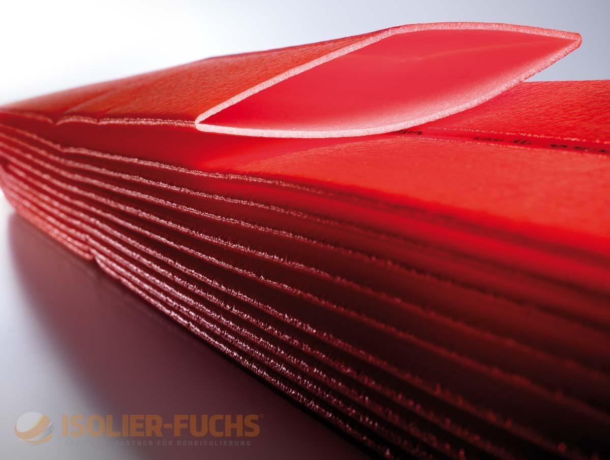 50m Schutzschlauch Isolierschlauch Isolierung in rot 4mm Dämmstärke